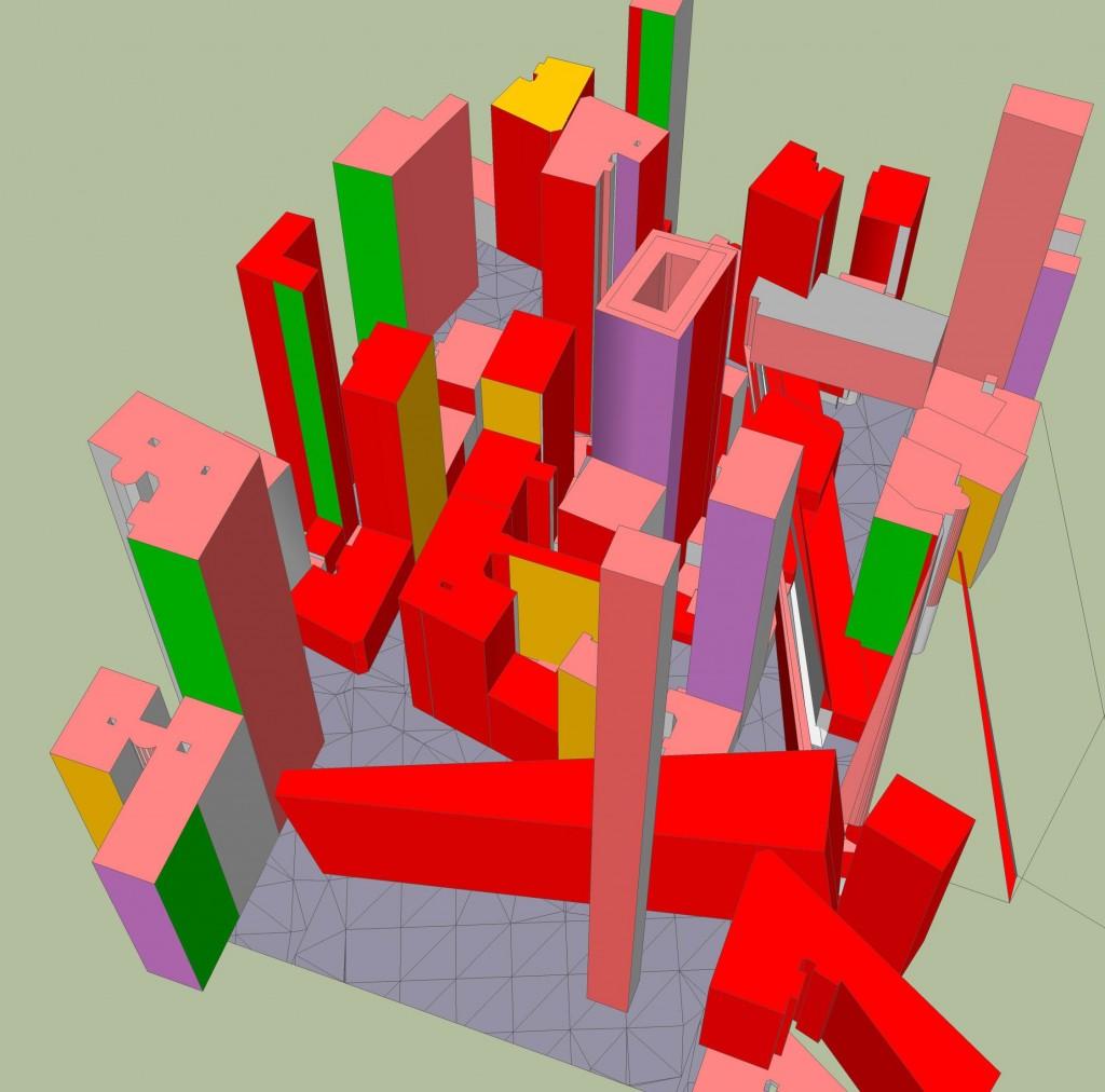 Häuserblock mit SketchUp