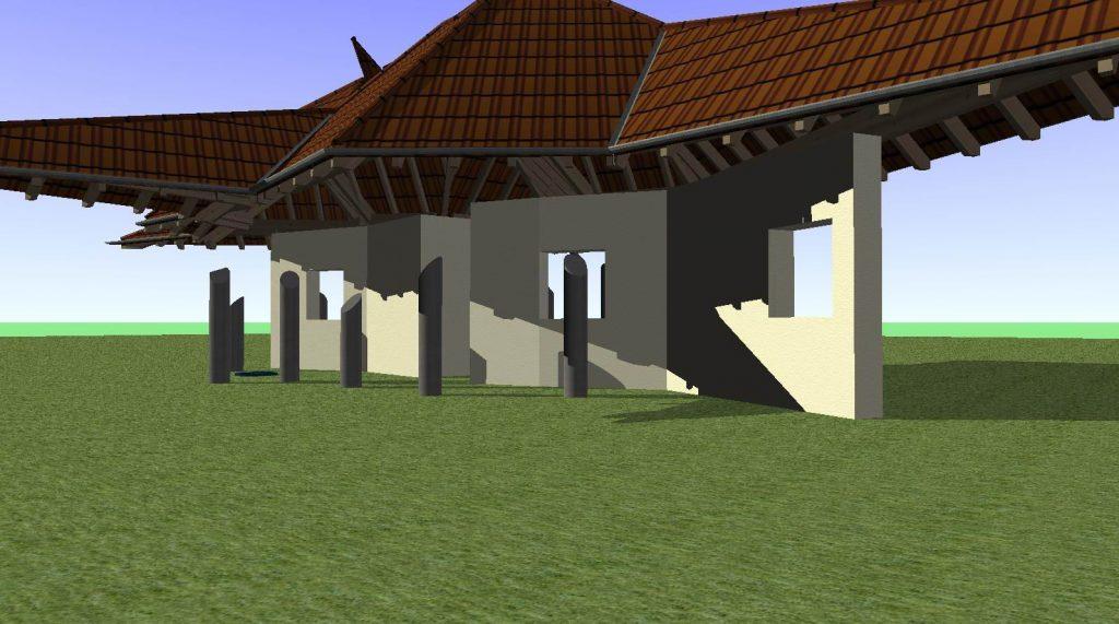 Dach-Mauern-Säulen mit Ashampoo