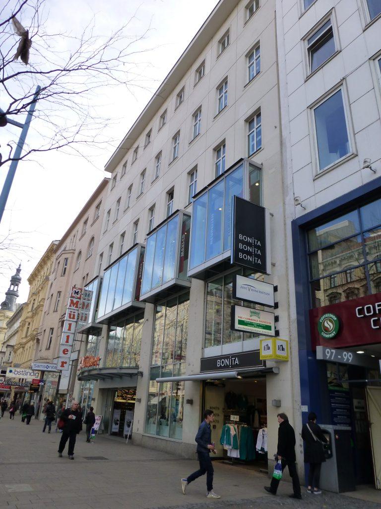 Geschäfts- und Bürohaus Wien 6, Mariahilfer Str. 97 Entwurf, Einreichplanung